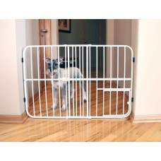 Tuffy Expandable Gate with Small Pet Door