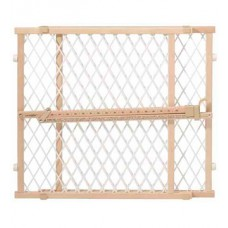 Position & Lock? Gate, Clear Wood/White Mesh