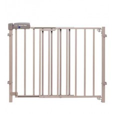 Secure Step Top of Stairs Gate, Taupe
